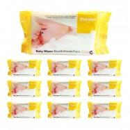 image of Us Baby Wipes for Gums & Teeth 80's 10 packs [Bundle]