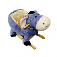 image of Woodalion Blue Donkey Infant Rocker
