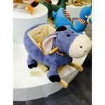 Woodalion Blue Donkey Infant Rocker