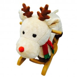 image of Woodalion Christmas Rain Deer Infant Rocker