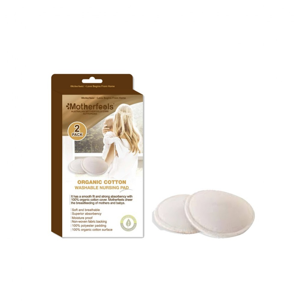 Motherfeels Organic Cloth Breast Pad (Washable) 2 packs