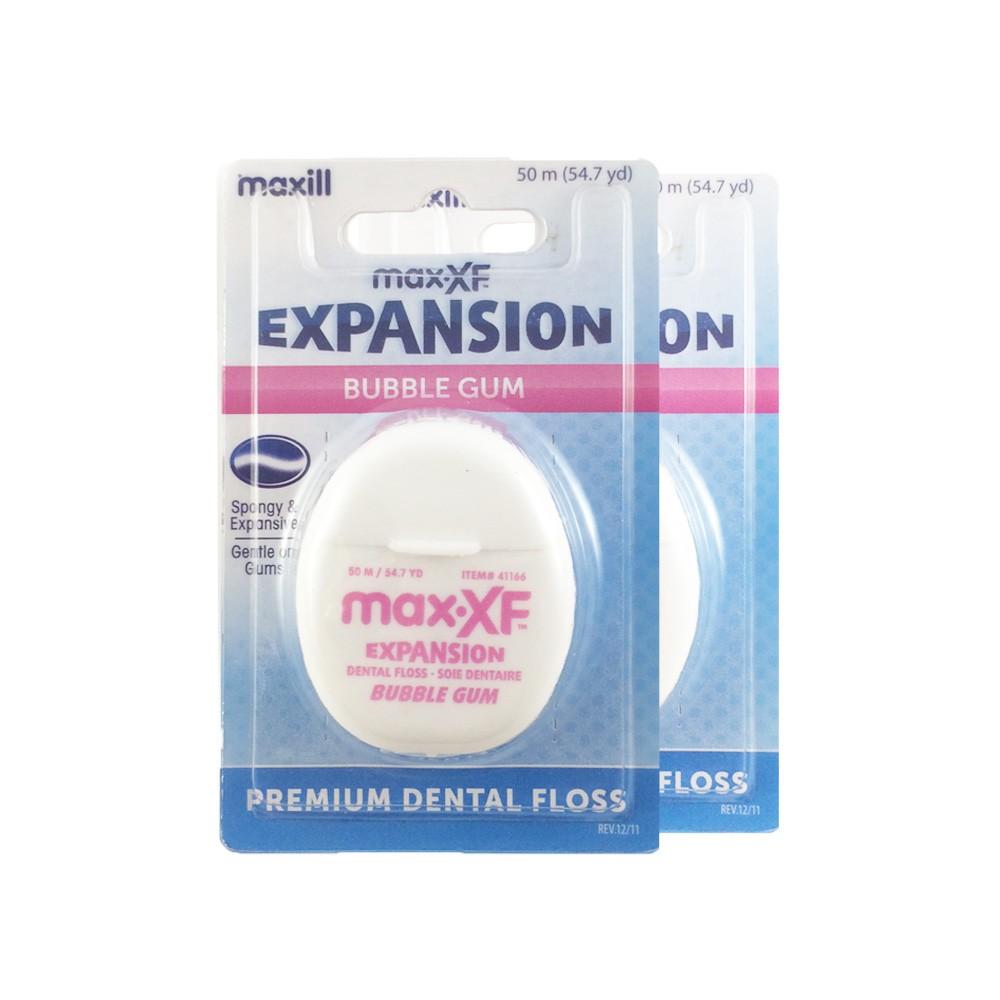 Maxill Expansion Dental Floss, Bubble Gum, 2pcs / bundle