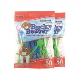 image of Maxill Bucky Beaver Flosser 50psc, 2pcs/bundle