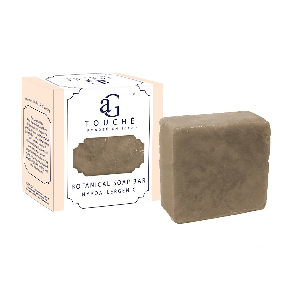 AG Touché Botanical Baby Soap Bar Hypoallergenic Dark Chocolate (80g) 1pc