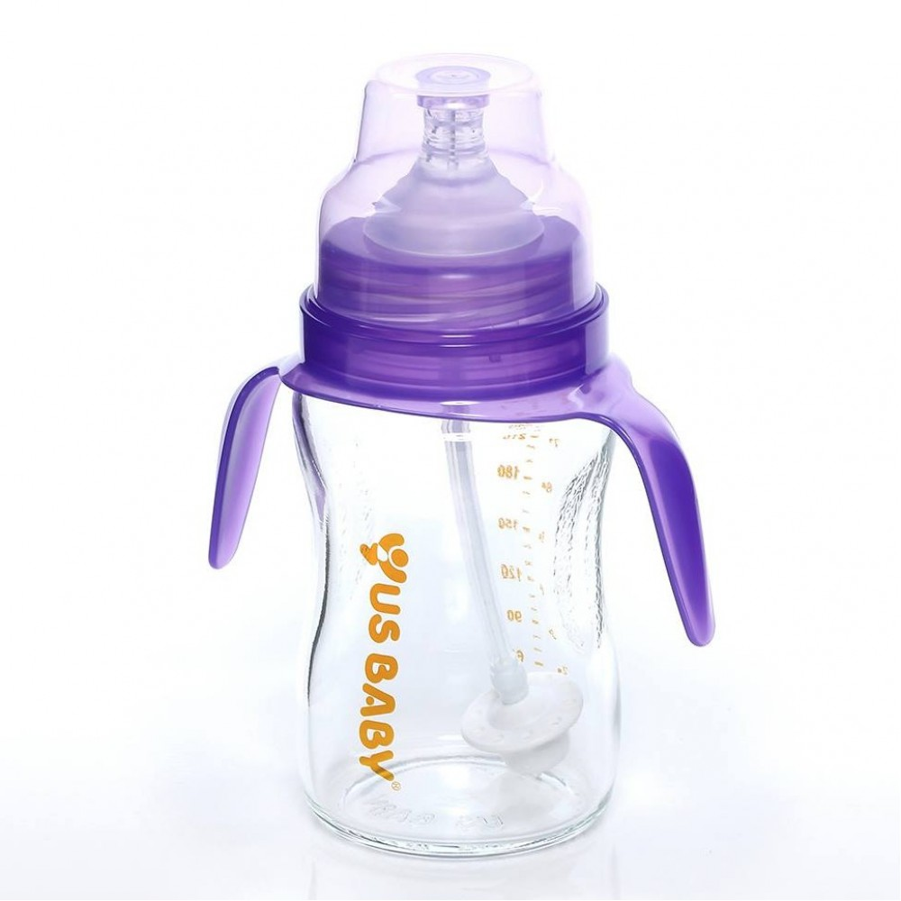 LACTA FLEX UltraThick Glass Bottle with Handle / Straw