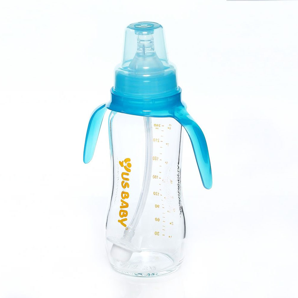 LACTA FLEX Ultrathick Glass Bottle w/o Straw and Handle
