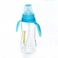 image of LACTA FLEX Ultrathick Glass Bottle w/o Straw and Handle