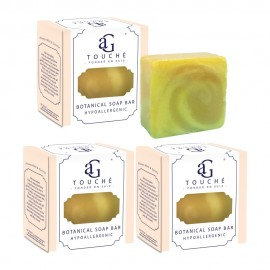 image of AG Touché Botanical Baby Soap Bar Hypoallergenic Lemongrass (80g) [Bundle of 3]