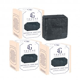 image of AG Touché Botanical Baby Soap Bar Bamboo Charcoal (80g) [Bundle of 3]