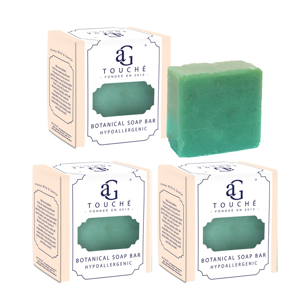 AG Touché Botanical Baby Soap Bar Oriental Tea (80g) [Bundle of 3]