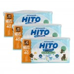 Hito Chlorine Free Baby Diapers NB/S 40's 3 packs [Bundle]