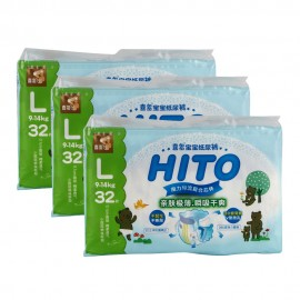 image of Hito Chlorine Free Baby Diapers L 32's 3 packs [Bundle]