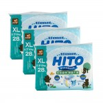 Hito Chlorine Free Baby Diapers XL 28's 3 packs [Bundle]