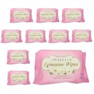 image of Inabella Botanical Feminine Wipes 20's 10 packs [Bundle]