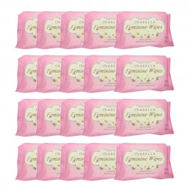 image of Inabella Fermini Wipes 20's 20 packs [Bundle]