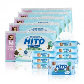 image of Hito Chlorine Free Diapers & Wipes Bundle D_M size