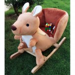 Woodalion Parents Aussie Kangaroo Infant Rocker