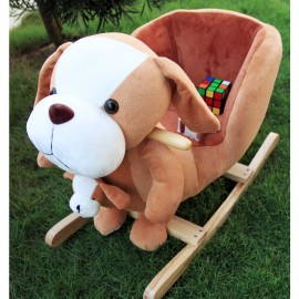 image of Woodalion Parents Beagle Infant Rocker