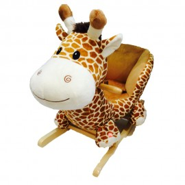 image of Woodalion Puff Giraffe Infant Rocker