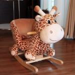Woodalion Puff Giraffe Infant Rocker