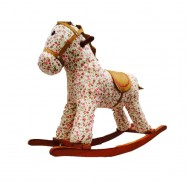 image of Woodalion White Horse Infant Rocker