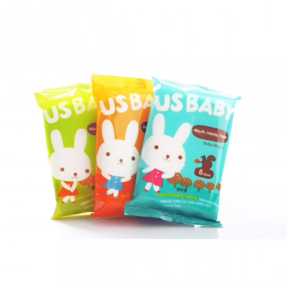 Us Baby Baby Wipes for Gums & Teeth 8's [3 Packs]