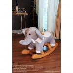 Woodalion Baby Elephant Infant Rocker