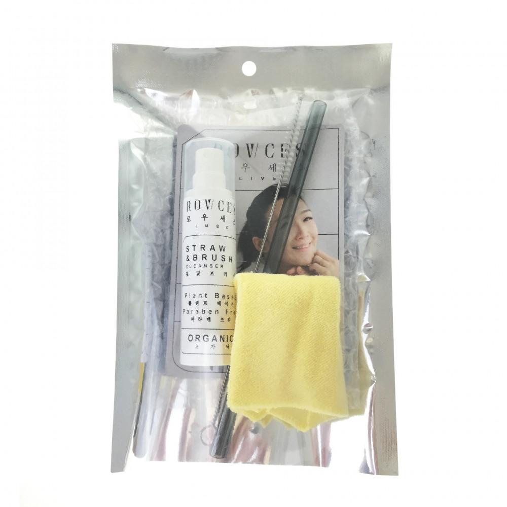 ROWCES LIVE Korea Borosilicate Glass Straw Packs (Curve)