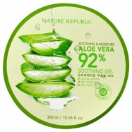 image of NATURE REPUBLIC SOOTHING & MOISTURE ALOE VERA 92% SOOTHING GEL 300ML
