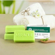 image of SOME BY MI AHA BHA PHA 30 DAYS MIRACLE CLEANSING BAR WITH BUBBLE NET 106G