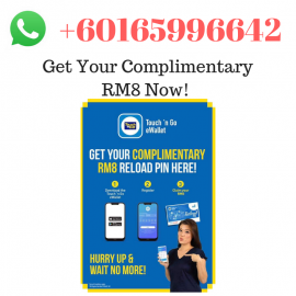 image of Get Complimentary RM8 for First time User For Touch N Go Ewallet App