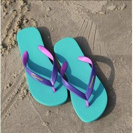 image of Hotmarzz Women Summer Designer Fashion Flip Flops / Sandals / Slippers (Sky Blue)
