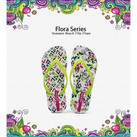 image of Hotmarzz Women Summer Beach Flat Sandals / Slippers / Flip Flops Flora Series (Easter Bunny)