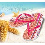 Hotmarzz Women Summer Beach Flat Sandals / Slippers / Flip Flops Geometric Print