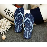 image of Hotmarzz Women Summer Beach Flat Sandals / Slippers / Flip Flops Seagull Series (Sky Blue)