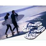 Hotmarzz Women Summer Beach Flat Sandals / Slippers / Flip Flops Seagull Series (White)