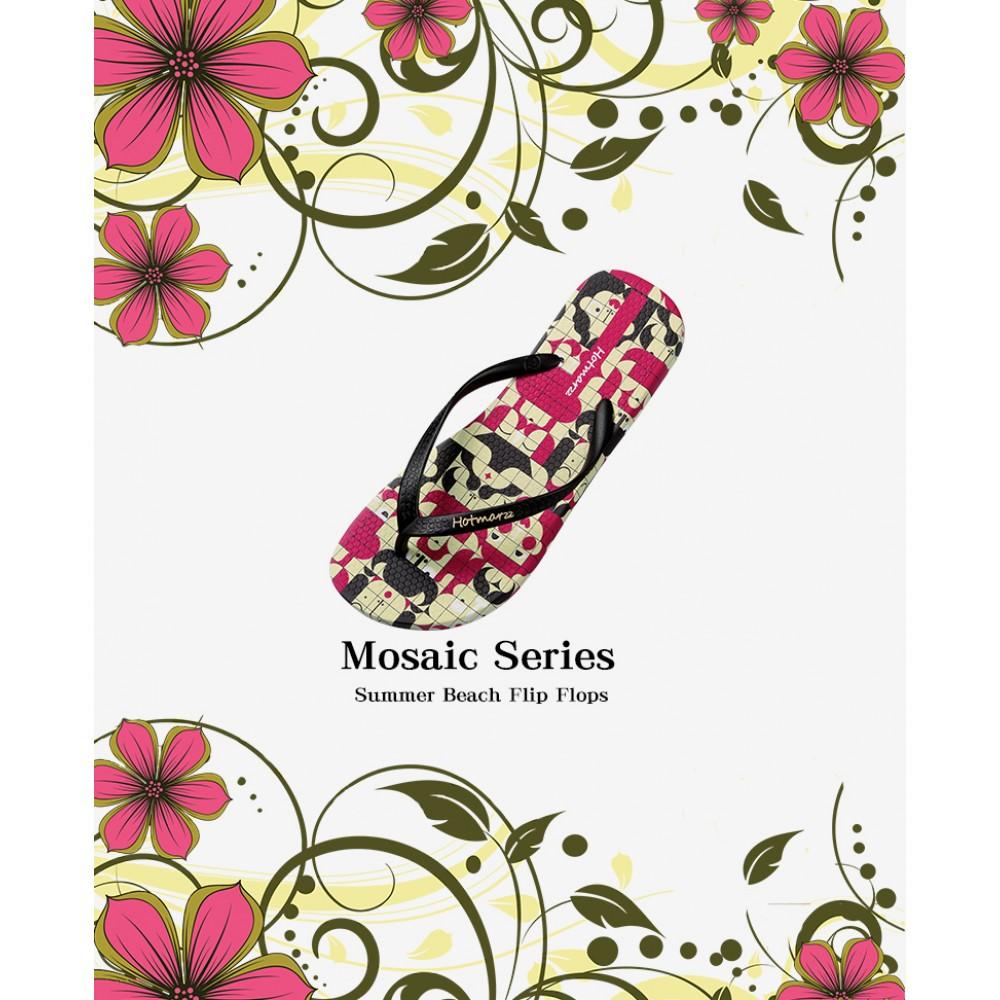 Hotmarzz Women Summer Beach Flat Sandals / Slippers / Flip Flops Mosaic Series