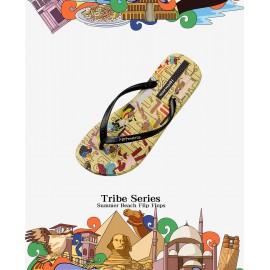 image of Hotmarzz Women Summer Beach Flat Sandals / Slippers / Flip Flops African Tribe Print