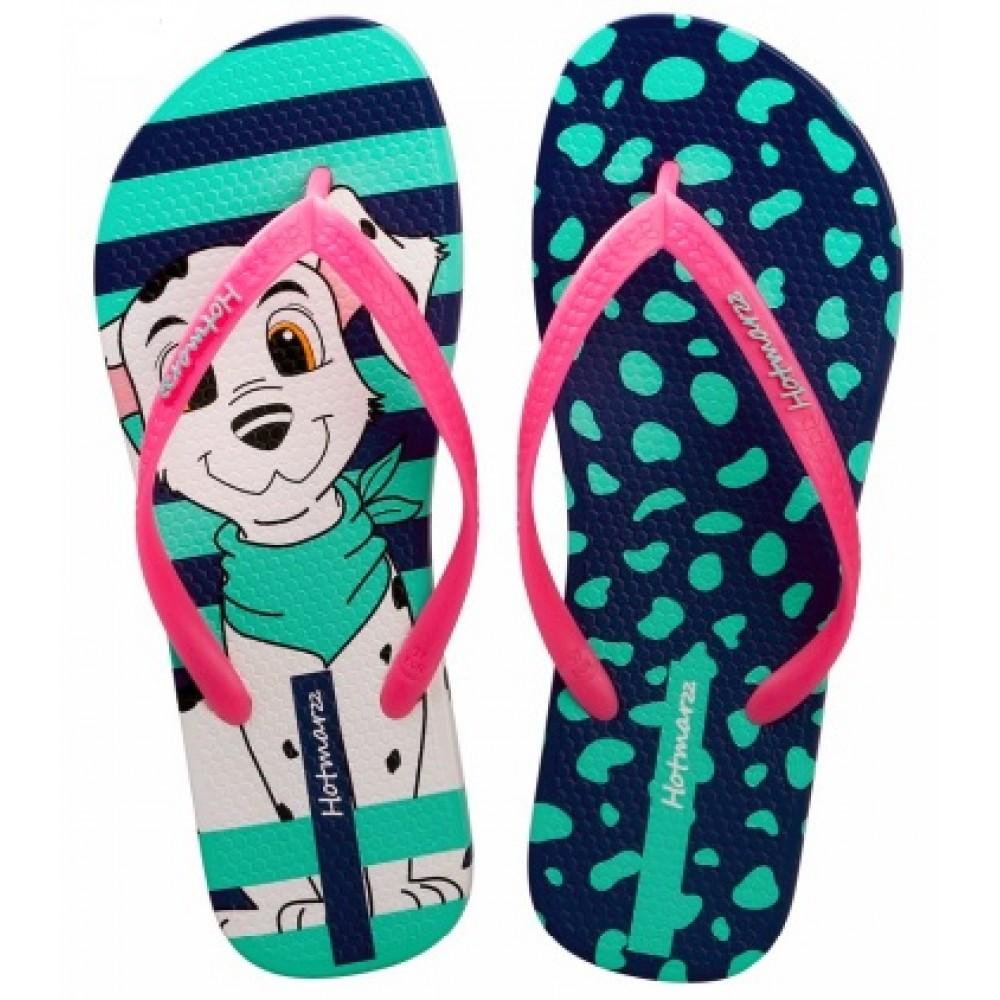 Hotmarzz Women Summer Beach Flat Sandals / Slippers / Flip Flops Puppy Series (Pink)