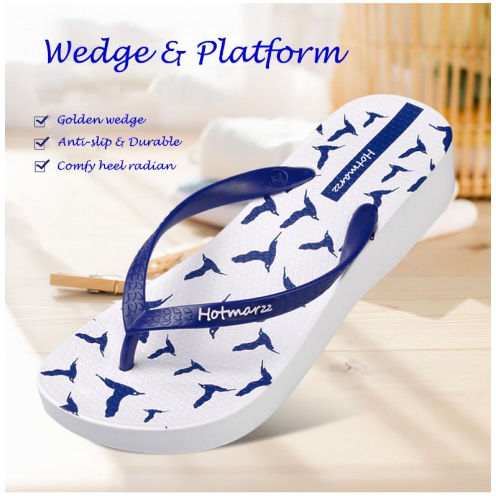 Hotmarzz Women Platform High Heel Slippers / Flip Flops / Wedge Sandals