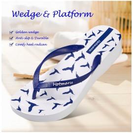 image of Hotmarzz Women Platform High Heel Slippers / Flip Flops / Wedge Sandals