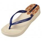 Hotmarzz Women High Heel Platform Flip Flops / Wedges Slippers (Beige)