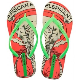 image of Hotmarzz Women Summer Beach Flat Sandals / Slippers / Flip Flops Animal Series (Orange)
