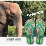 Hotmarzz Women Summer Beach Flat Sandals / Slippers / Flip Flops Animal Series (Green)