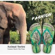 image of Hotmarzz Women Summer Beach Flat Sandals / Slippers / Flip Flops Animal Series (Green)