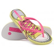 image of Hotmarzz Women Summer Beach Flat Sandals / Slippers / Flip Flops Canvas Series (Pink)