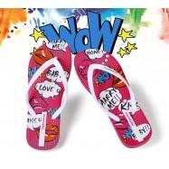 image of  Hotmarzz Women Summer Beach Flat Sandals / Slippers / Flip Flops Cartoon Series (White)