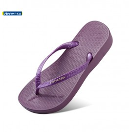 image of Hotmarzz Women Summer Beach Comfy Wedges Slippers (Purple)