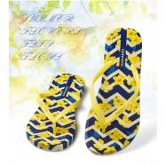 image of Hotmarzz Women Beach Flip Flop Summer Slippers (Yellow Flower)