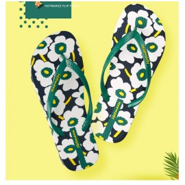 image of Hotmarzz Women Beach Flip Flop Summer Slippers (Floral)